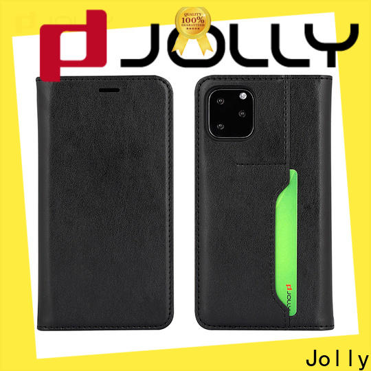 high quality personalised leather phone case with strong magnetic closure for sale