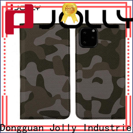 Jolly pu leather initial phone case supplier for sale