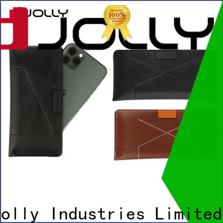 flip leather phone case with adhesive for mobile phone
