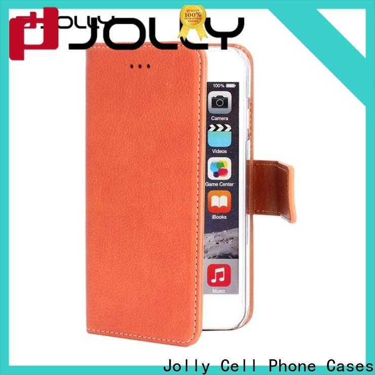 Jolly cell phone wallet case supply for apple