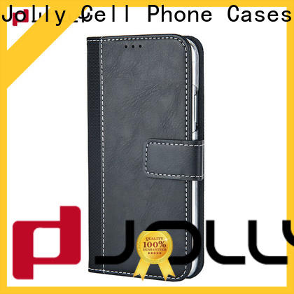 Jolly leather cell phone wallet case factory for sale