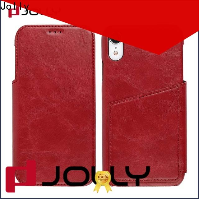 Jolly wholesale phone cases with id and credit pockets for mobile phone