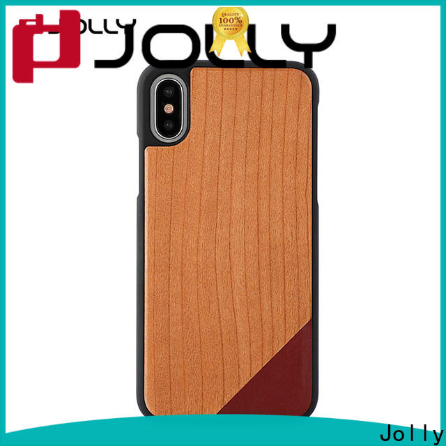 Jolly slim spliced two leather mobile back cover designs supply for iphone xs