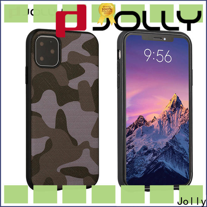 Jolly engraving customized mobile cover factory for sale