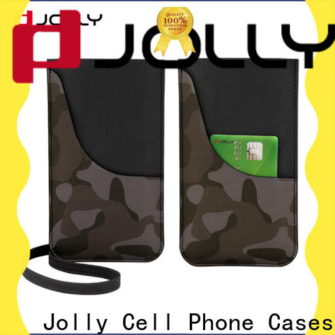 Jolly colored mobile phone bags pouches manufacturers for phone