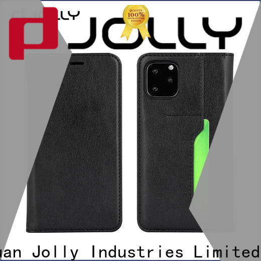 Jolly top cell phone cases with id and credit pockets for iphone xs