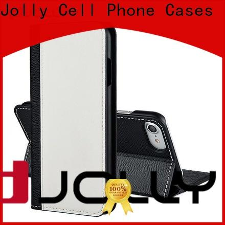 Jolly luxury cell phone wallet purse for busniess for mobile phone