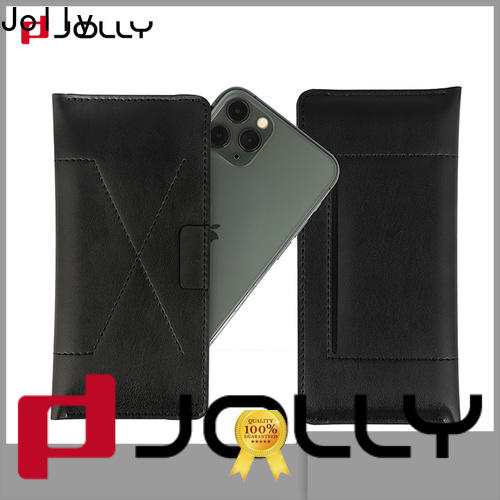 Jolly phone case maker with id and credit pockets for apple