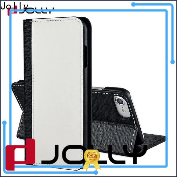 Jolly zip around leather cell phone wallet with credit card holder for apple