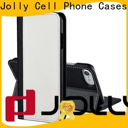 Jolly imitation leather cell phone wallet supplier for mobile phone
