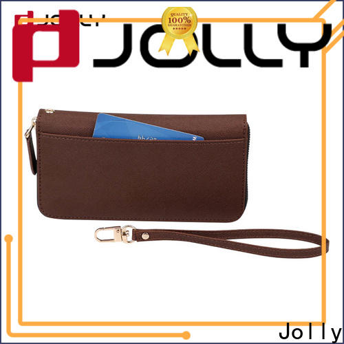 Jolly new cell phone wallet purse with slot for apple