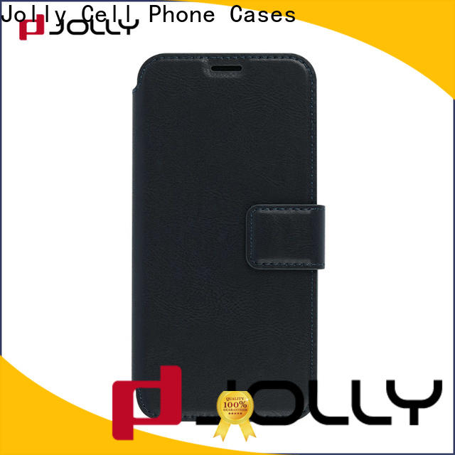 custom flip cell phone case with strong magnetic closure for sale