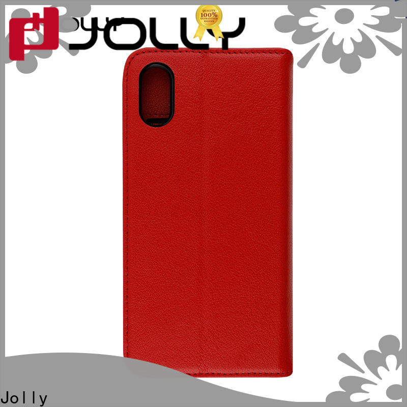 Jolly magnetic protection case with credit card holder for iphone x