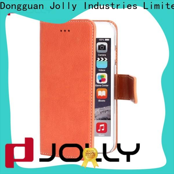 Jolly leather cell phone wallet with rfid blocking features for iphone xs
