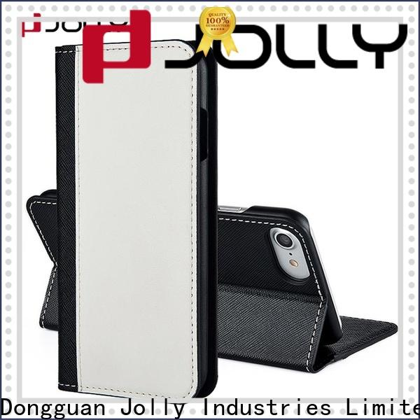 Jolly cell phone wallet purse with printed pattern cover for mobile phone