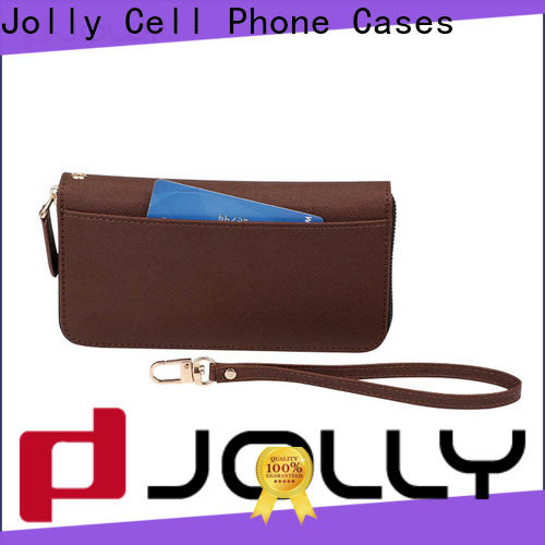 Jolly high quality mens cell phone wallet supply for sale