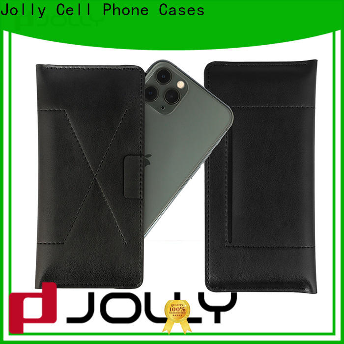 Jolly pu leather universal waterproof case supply for cell phone