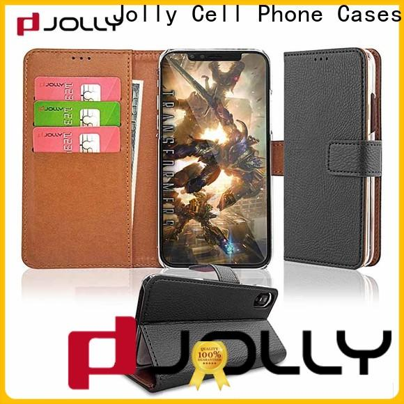 Jolly zip around magnetic wallet phone case supply for sale