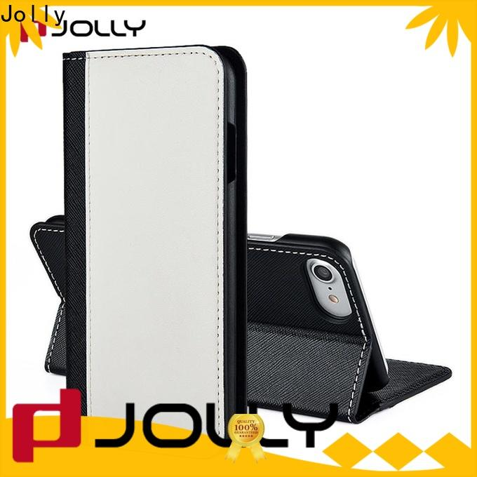 Jolly leather wallet phone case factory for iphone xs