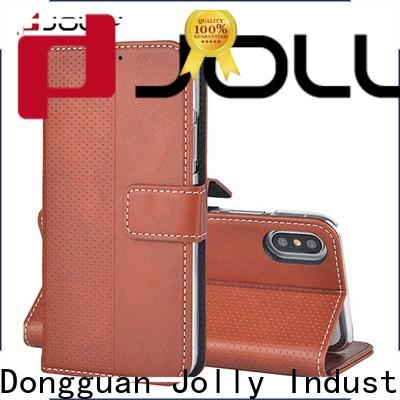 Jolly leather wallet phone case factory for apple