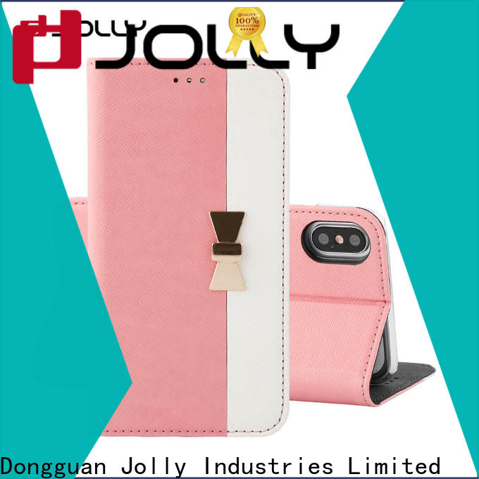 Jolly folio initial phone case supplier for sale