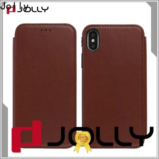 new magnetic flip phone case with id and credit pockets for iphone xs