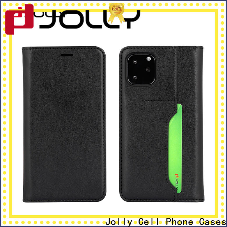 Jolly wholesale initial phone case with slot kickstand for iphone xs