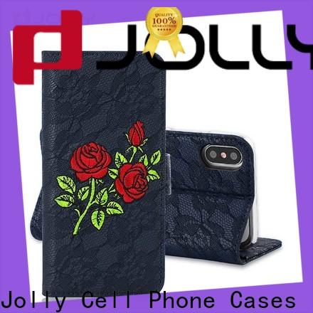 Jolly cell phone wallet case for busniess for mobile phone