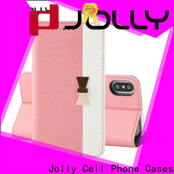 Jolly personalised leather phone case manufacturer for iphone xs