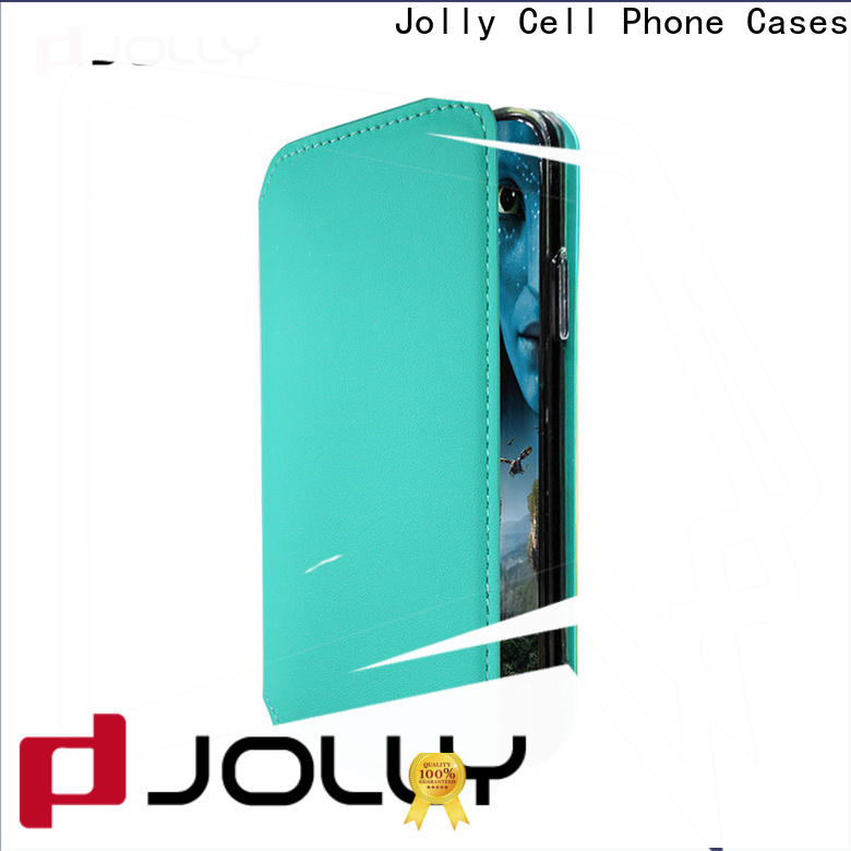 Jolly magnetic flip phone case with id and credit pockets for iphone xs