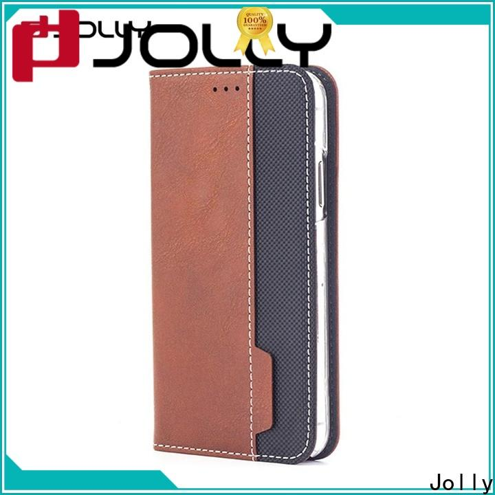 Jolly pu leather wholesale phone cases with slot for mobile phone