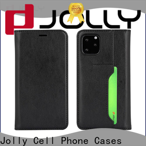 Jolly leather phone case with id and credit pockets for sale