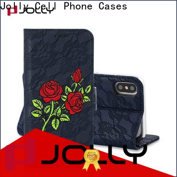 Jolly wholesale cell phone wallet purse supplier for mobile phone