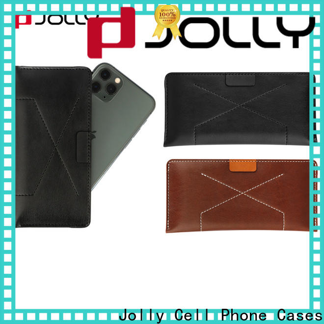 artificial leather universal cell phone case manufacturer for mobile phone