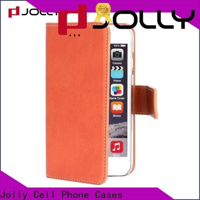 Jolly artificial cell phone wallet case for busniess for mobile phone