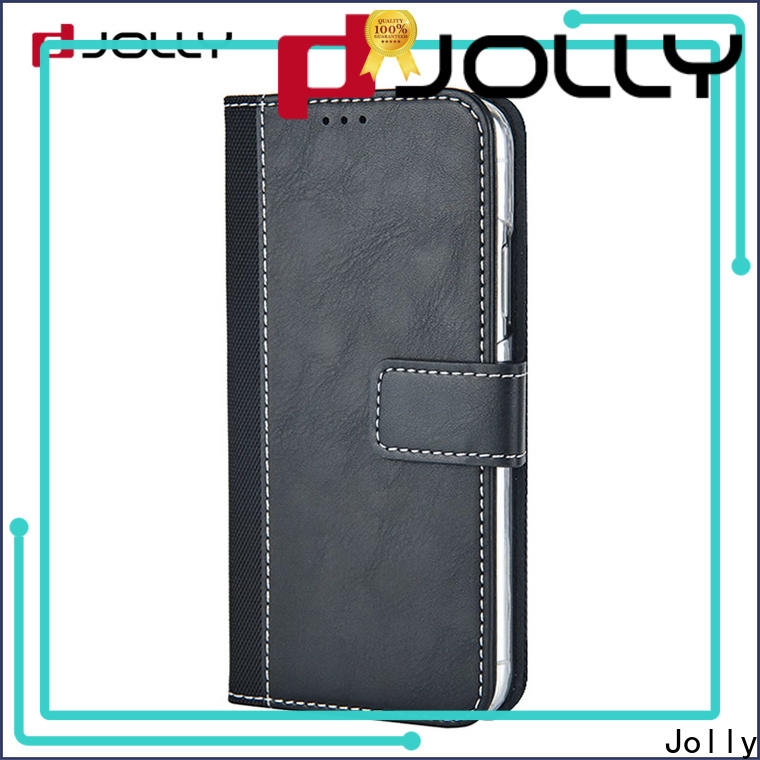 Jolly cell phone wallet combination with id and credit pockets for iphone xs