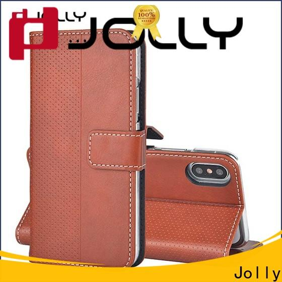 Jolly best cell phone wallet wristlet for busniess for iphone xs