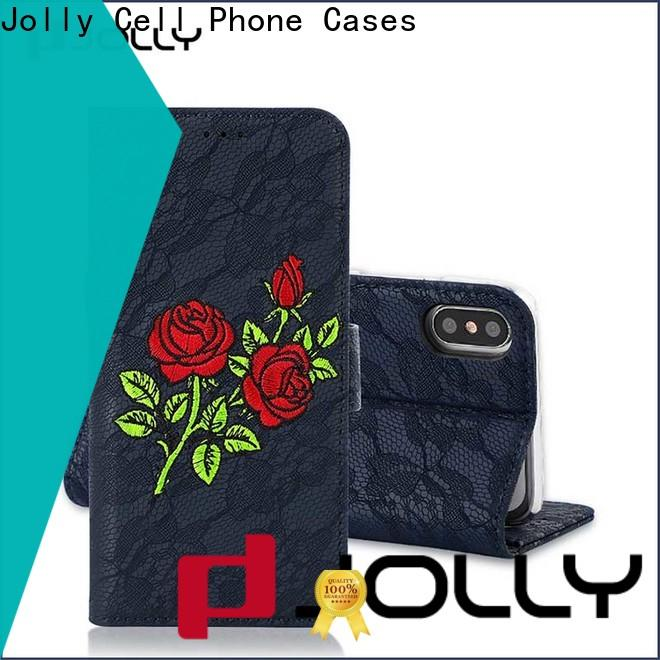 Jolly latest women's cell phone wallet with id and credit pockets for iphone xs
