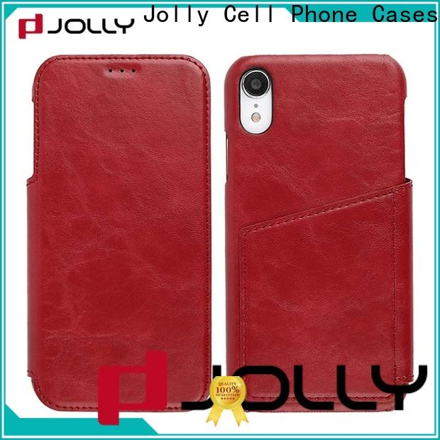 Jolly pu leather flip phone case supplier for iphone xs