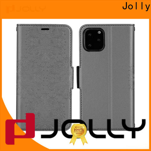 Jolly leather phone case maker supplier for apple