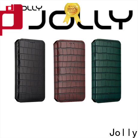 Jolly flip cell phone case with slot for iphone xs