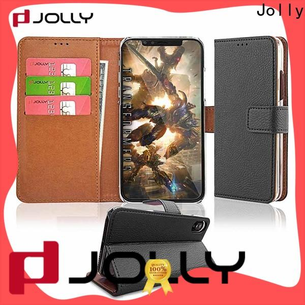 real carbon fiber magnetic wallet phone case with credit card holder for mobile phone