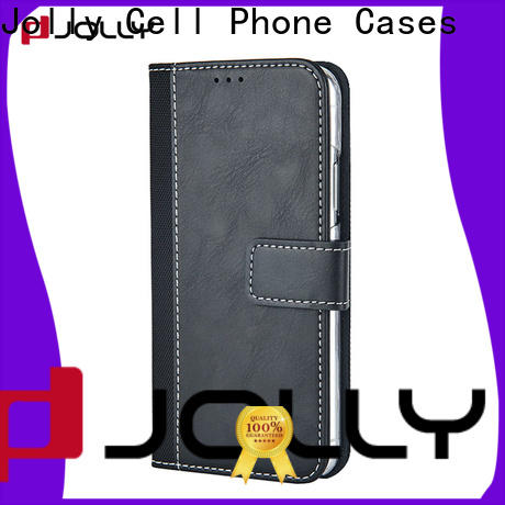 Jolly luxury wallet purse phone case company for sale