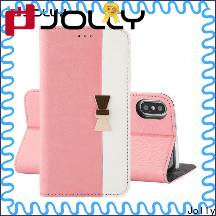 Jolly slim leather flip phone case supplier for sale