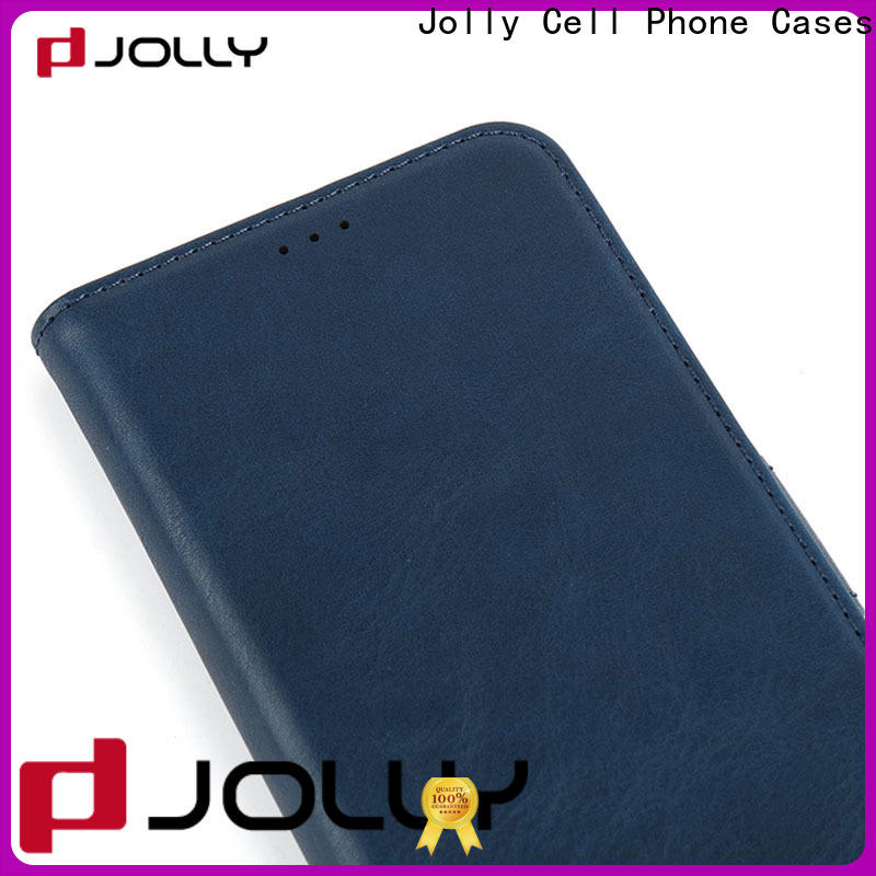 Jolly initial anti-radiation case with slot kickstand for iphone xs