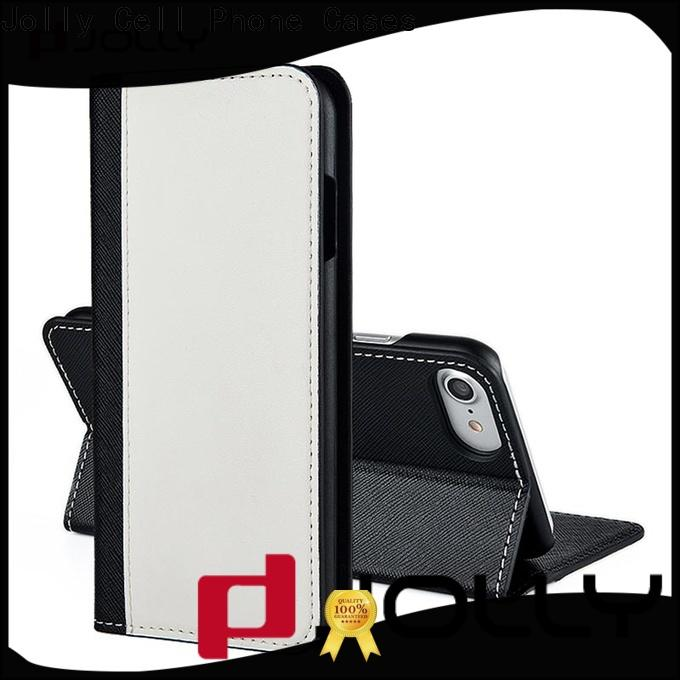 leather card holder organizer cell phone wallet case with rfid blocking features for sale
