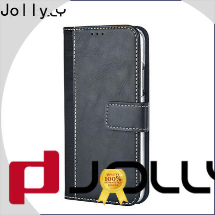 Jolly real carbon fiber phone case and wallet with credit card holder for mobile phone