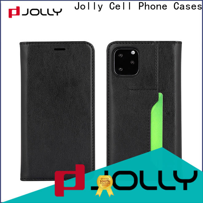Jolly pu leather magnetic flip phone case company for sale