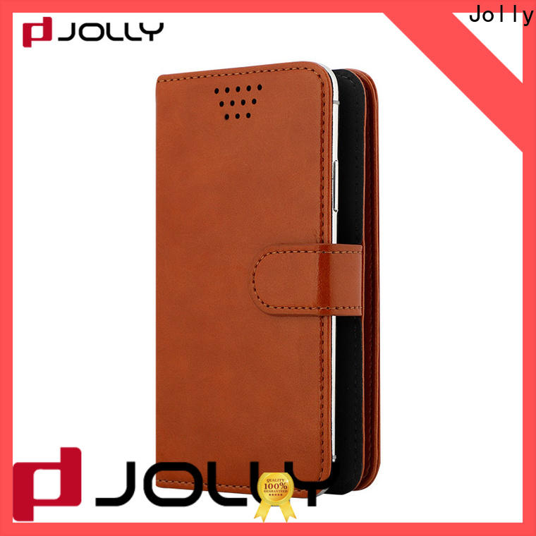 Jolly leather phone case for busniess for sale