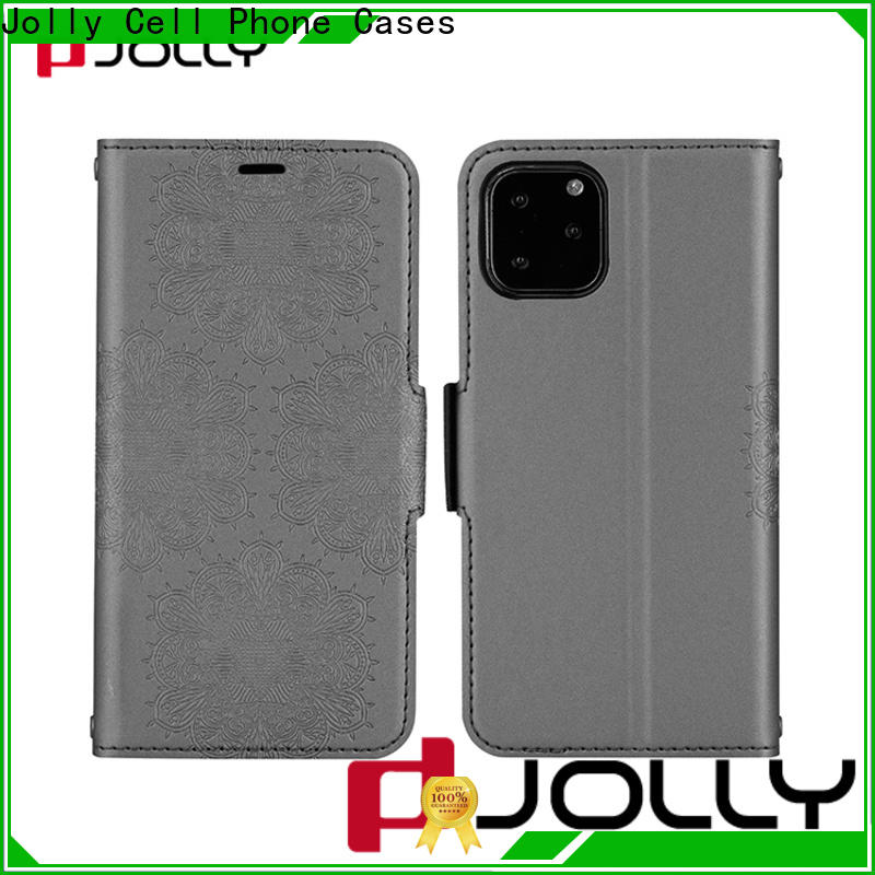 slim leather anti-radiation case with strong magnetic closure for mobile phone